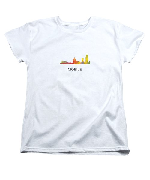 Mobile Alabama Skyline Women's T-Shirt (Standard Cut) by Marlene Watson