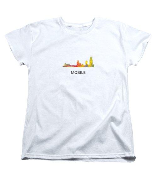 Mobile Alabama Skyline Women's T-Shirt (Standard Cut)
