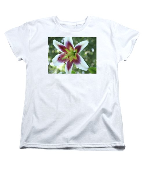 Women's T-Shirt (Standard Cut) featuring the photograph Oriental Lily by Rebecca Overton