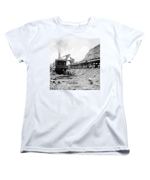 Panama Canal - Construction - C 1910 Women's T-Shirt (Standard Cut) by International  Images
