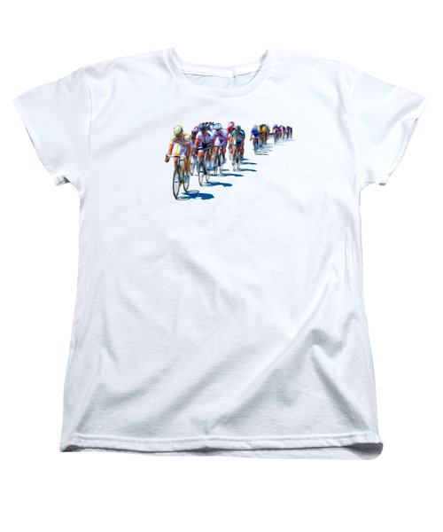 Philadelphia Bike Race Women's T-Shirt (Standard Cut) by Bill Cannon