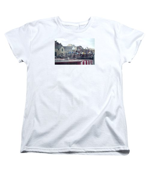 Women's T-Shirt (Standard Cut) featuring the photograph Nor' Easter At Portsmouth by Richard Ortolano