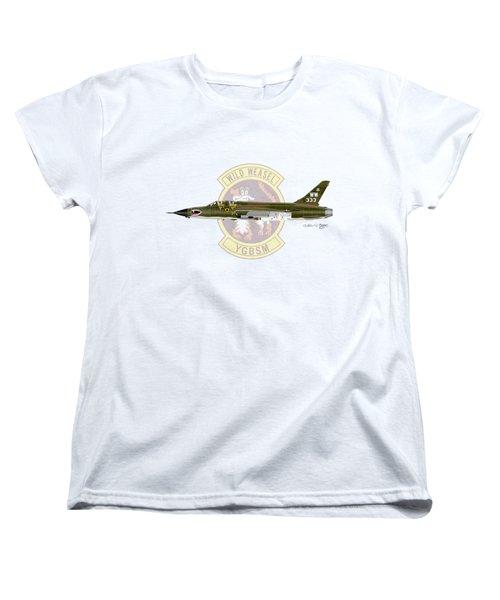 Republic F-105g Wild Weasel Women's T-Shirt (Standard Cut) by Arthur Eggers