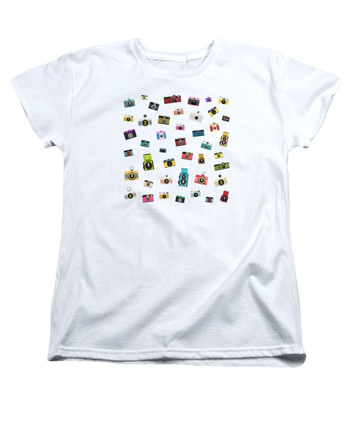 Women's T-Shirt (Standard Cut) featuring the painting Retro Camera by Setsiri Silapasuwanchai