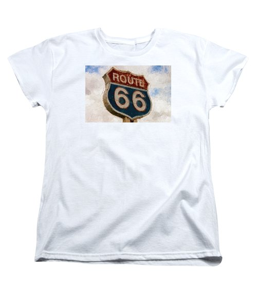 Route 66  Women's T-Shirt (Standard Cut) by Louis Ferreira