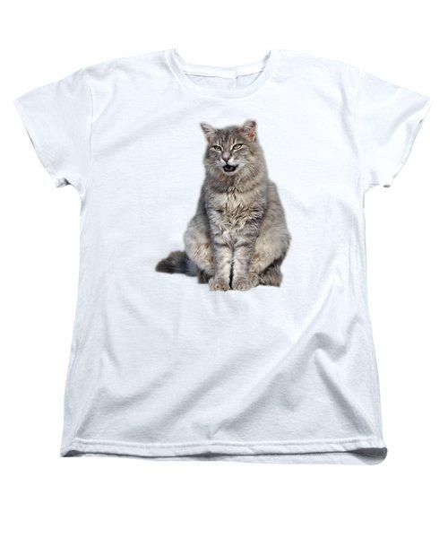 Women's T-Shirt (Standard Cut) featuring the photograph Sitting Cat by George Atsametakis