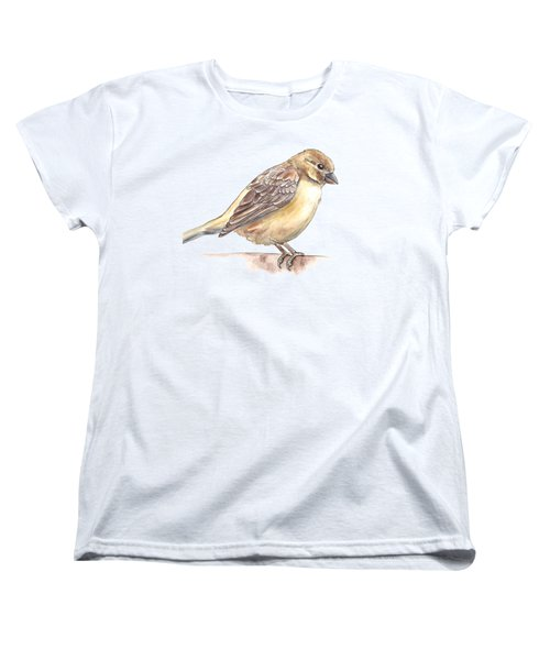 Sparrow Women's T-Shirt (Standard Cut) by Katerina Kirilova