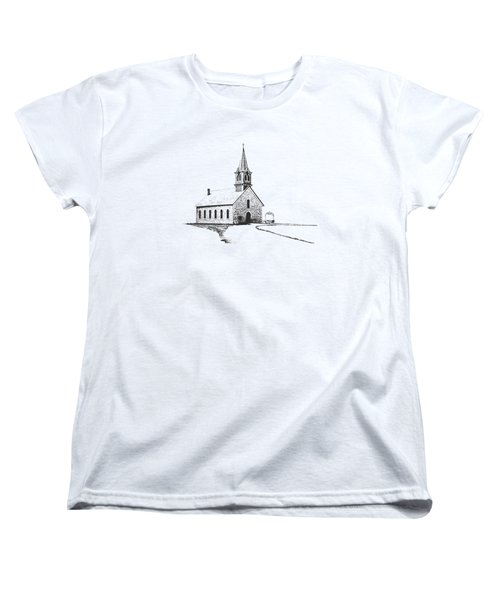 Women's T-Shirt (Standard Cut) featuring the photograph St. Olaf Lutheran Church by David and Carol Kelly