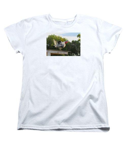 Women's T-Shirt (Standard Cut) featuring the photograph Gobble Gobble by Brenda Pressnall
