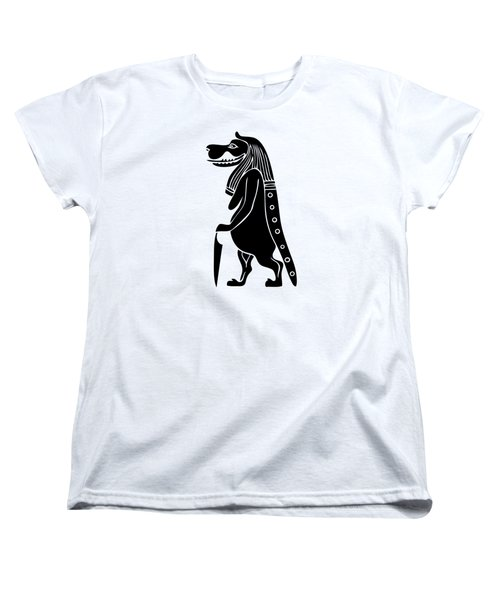 Taweret - Mythical Creature Of Ancient Egypt Women's T-Shirt (Standard Cut) by Michal Boubin