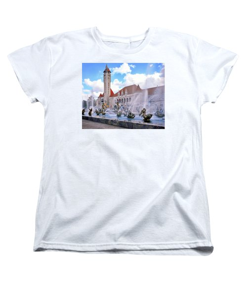 Union Station - St Louis Women's T-Shirt (Standard Cut) by Harold Rau