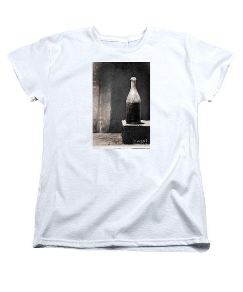 Vintage Beer Bottle Women's T-Shirt (Standard Cut) by Andrey  Godyaykin