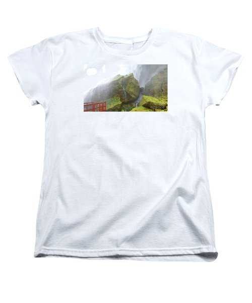 Women's T-Shirt (Standard Cut) featuring the photograph Water Path by Raymond Earley