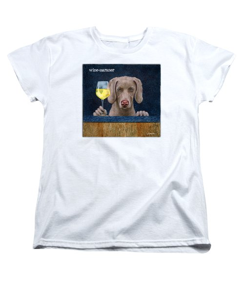 Wine-maraner Women's T-Shirt (Standard Cut) by Will Bullas