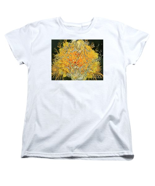 Yellow Dahlia Women's T-Shirt (Standard Cut) by Elvira Ladocki