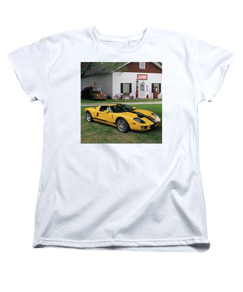 Women's T-Shirt (Standard Cut) featuring the photograph 2005 Ford Gt by Christopher McKenzie