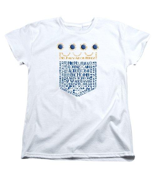 2015 Kansas City Crown Baseball Players Women's T-Shirt (Standard Cut)
