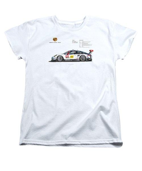 2016 911gt3r Rsr Poster Women's T-Shirt (Standard Cut) by Alain Jamar