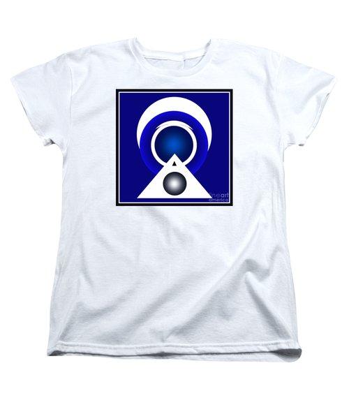 Women's T-Shirt (Standard Cut) featuring the digital art 2018 Blue by John Krakora