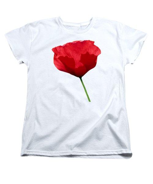 Women's T-Shirt (Standard Cut) featuring the photograph Poppy Flower by George Atsametakis