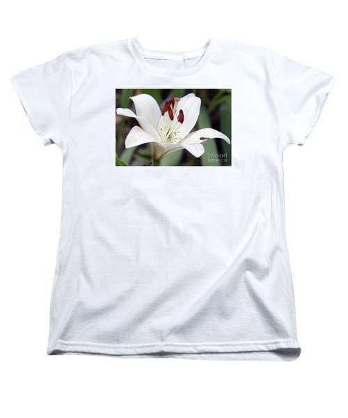 White Lily Women's T-Shirt (Standard Cut) by Elvira Ladocki