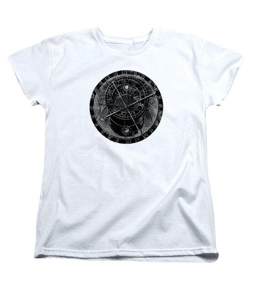 Astronomical Clock Women's T-Shirt (Standard Cut) by Michal Boubin