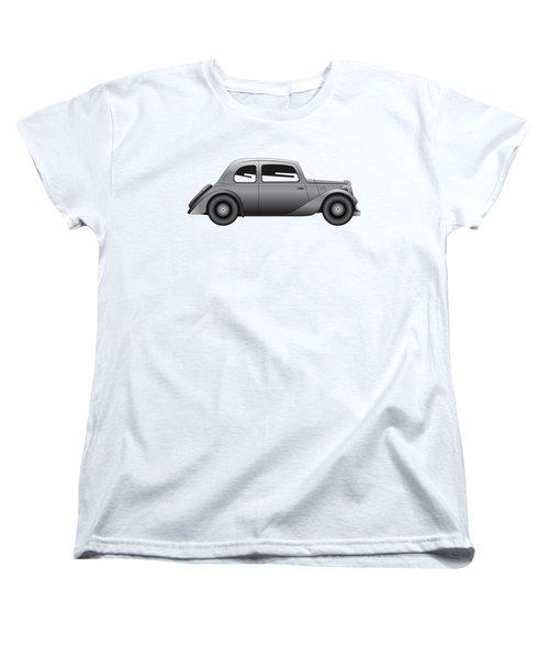 Women's T-Shirt (Standard Cut) featuring the digital art Coupe - Vintage Model Of Car by Michal Boubin