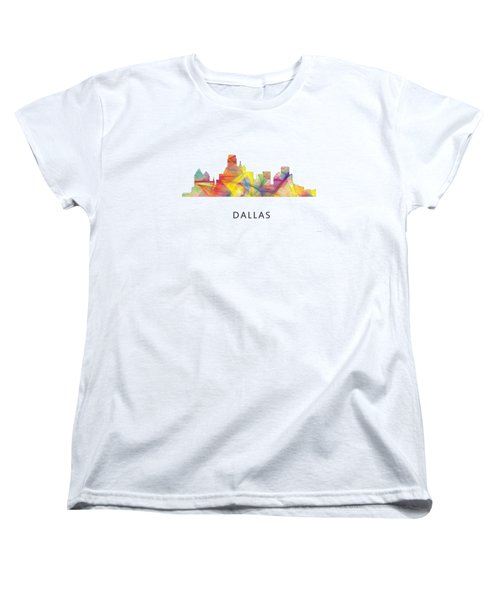 Dallas Texas Skyline Women's T-Shirt (Standard Cut) by Marlene Watson
