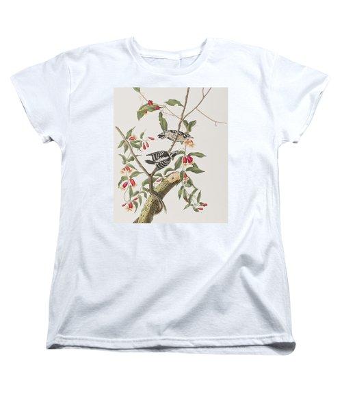 Downy Woodpecker Women's T-Shirt (Standard Cut) by John James Audubon