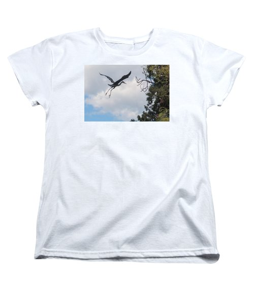 Great Blue Heron Women's T-Shirt (Standard Cut) by Keith Boone