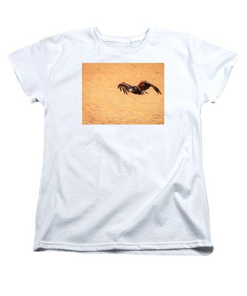 Women's T-Shirt (Standard Cut) featuring the photograph Harris Hawk by Alexey Stiop