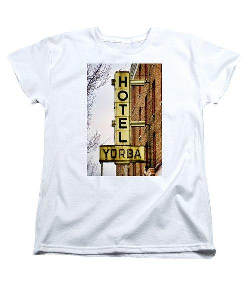 Hotel Yorba Women's T-Shirt (Standard Cut) by Gordon Dean II