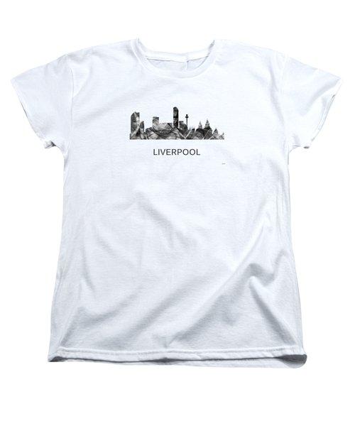 Liverpool England Skyline Women's T-Shirt (Standard Fit)