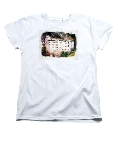 Women's T-Shirt (Standard Cut) featuring the photograph Predjama Castle, Predjama Slovenia by Joseph Hendrix