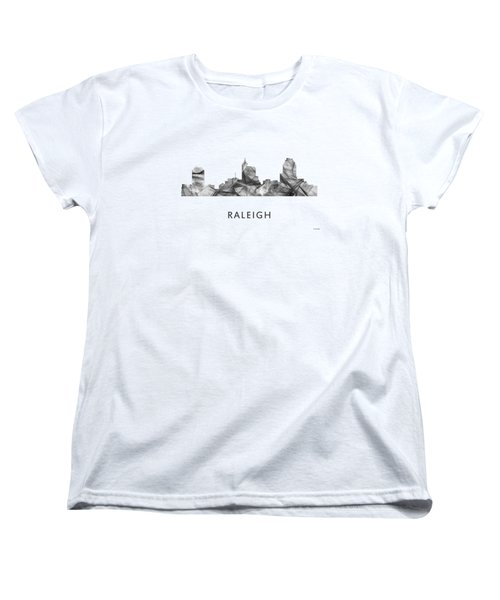 Raleigh North Carolina Skyline Women's T-Shirt (Standard Cut)