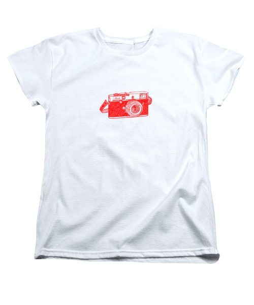 Women's T-Shirt (Standard Cut) featuring the drawing Rangefinder Camera by Setsiri Silapasuwanchai