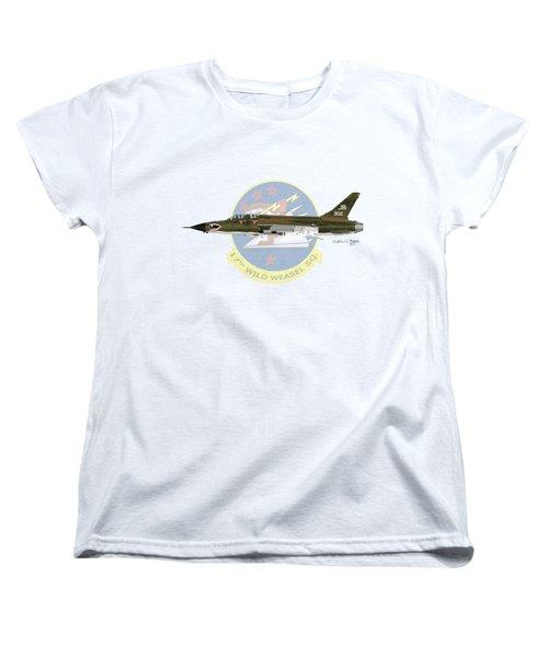 Republic F-105g Wild Weasel 17ww Women's T-Shirt (Standard Cut) by Arthur Eggers