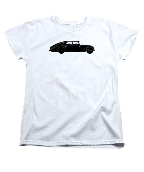Women's T-Shirt (Standard Cut) featuring the digital art Sedan - Vintage Model Of Car by Michal Boubin