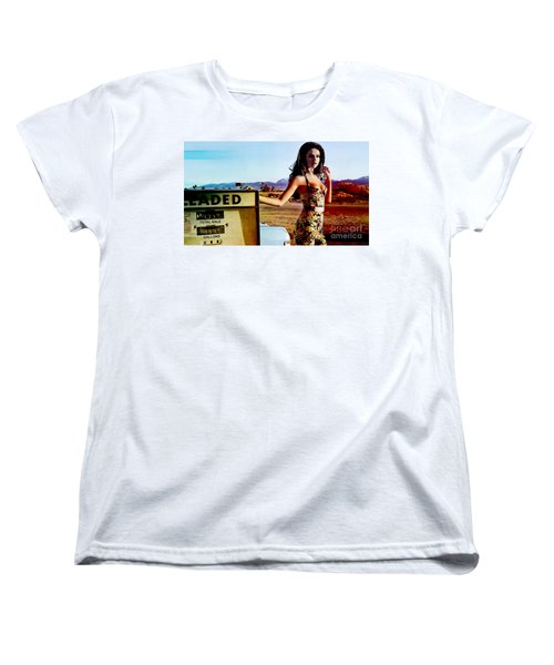Women's T-Shirt (Standard Cut) featuring the digital art Selena Gomez  by Marvin Blaine