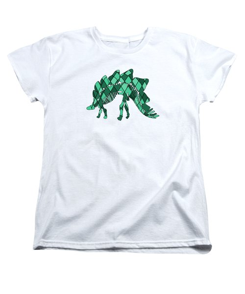 Stegosaurus Skeleton Women's T-Shirt (Standard Cut) by Mordax Furittus