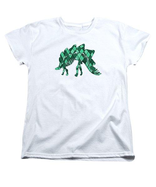 Stegosaurus Skeleton Women's T-Shirt (Standard Cut)