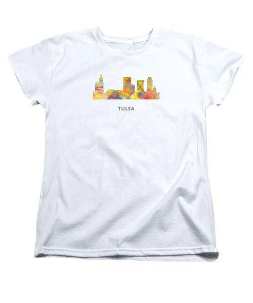 Tulsa Oklahoma Skyline Women's T-Shirt (Standard Cut) by Marlene Watson
