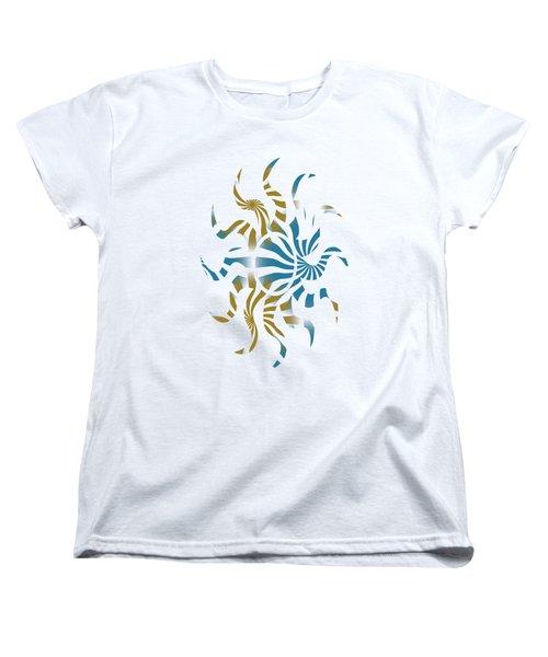 3d Spiral Art Women's T-Shirt (Standard Fit)