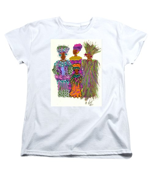 Women's T-Shirt (Standard Cut) featuring the mixed media 3rd Generation - We Women Folk by Angela L Walker