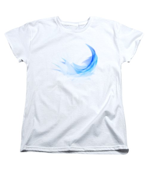 Women's T-Shirt (Standard Cut) featuring the painting Abstract Feather by Setsiri Silapasuwanchai