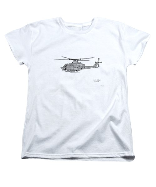 Bell Helicopter Uh-1y Venom Women's T-Shirt (Standard Cut) by Arthur Eggers