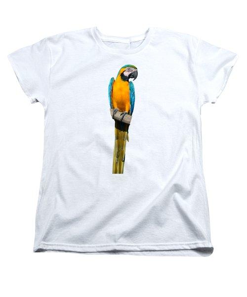 Blue And Gold Macaw Women's T-Shirt (Standard Cut)