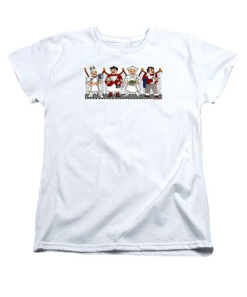 4 Chefs Women's T-Shirt (Standard Cut) by John Keaton