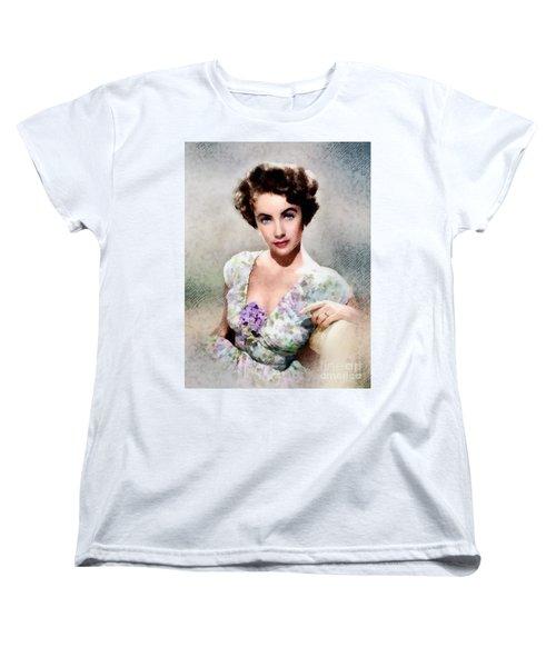 Elizabeth Taylor, Vintage Hollywood Legend Women's T-Shirt (Standard Cut) by John Springfield