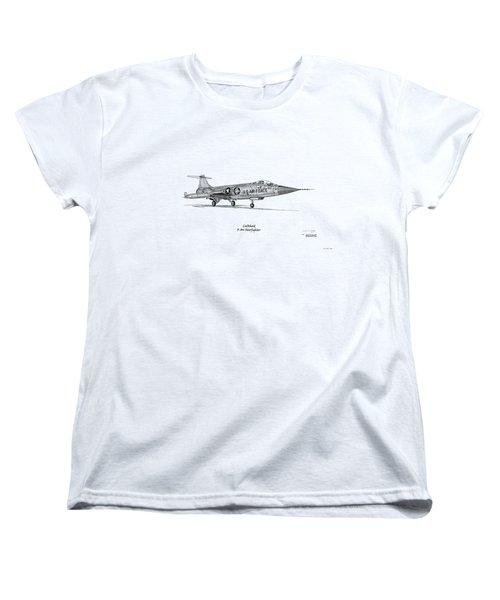 Lockheed F-104 Starfighter Women's T-Shirt (Standard Cut) by Arthur Eggers